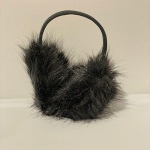 Fuzzy Black Ear Muffs- Super Warm!